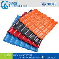 Volume produce different color corrugated roof tiles ASA Synthetic resin tile cost of metal roofing per square