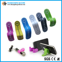 Factory price portable cable clip, silicone promotional clip