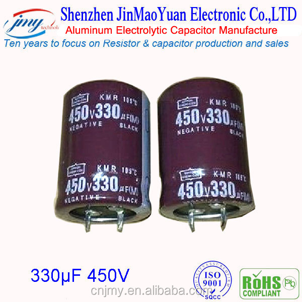 New product electronic component 330UF 450V electrolytic aluminum capacitor 450V 10uf 47uf 82uf 120uf 150uf 2200uf for optional