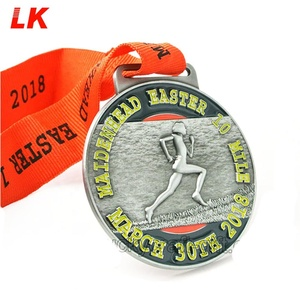 Cheap custom metal 3D medals with ribbon made in china