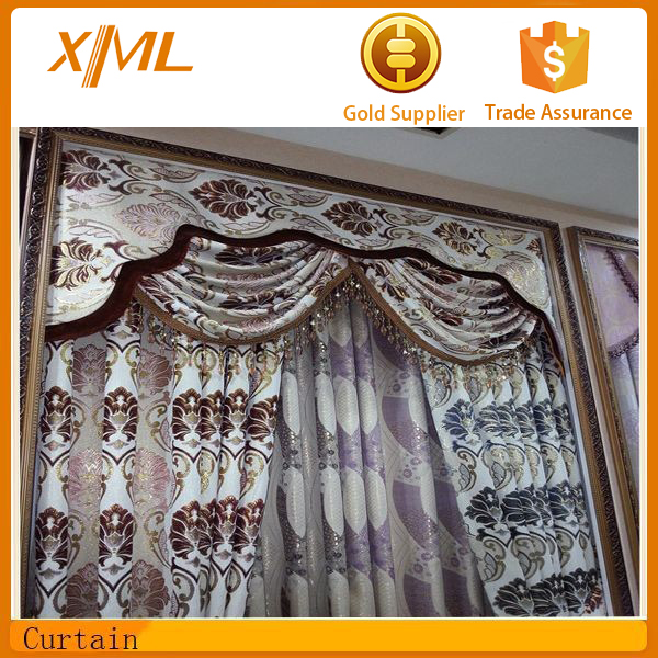 luxury classic embroidery window fabric curtain designs