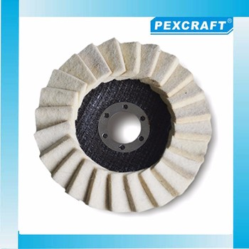 PEXCRAFT Stainless surfacing conditioning felt buffing wool wheels
