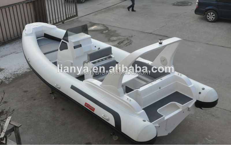 Liya 7.5m yacht china manufacturers inflatable boat with navigator RHIB for sale