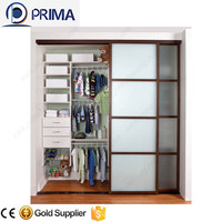Cheap aluminium sliding wardrobe closet doors