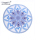 Weighted extra large luxury sandless blankets wholesale custom cotton circle beach round towel with tassel