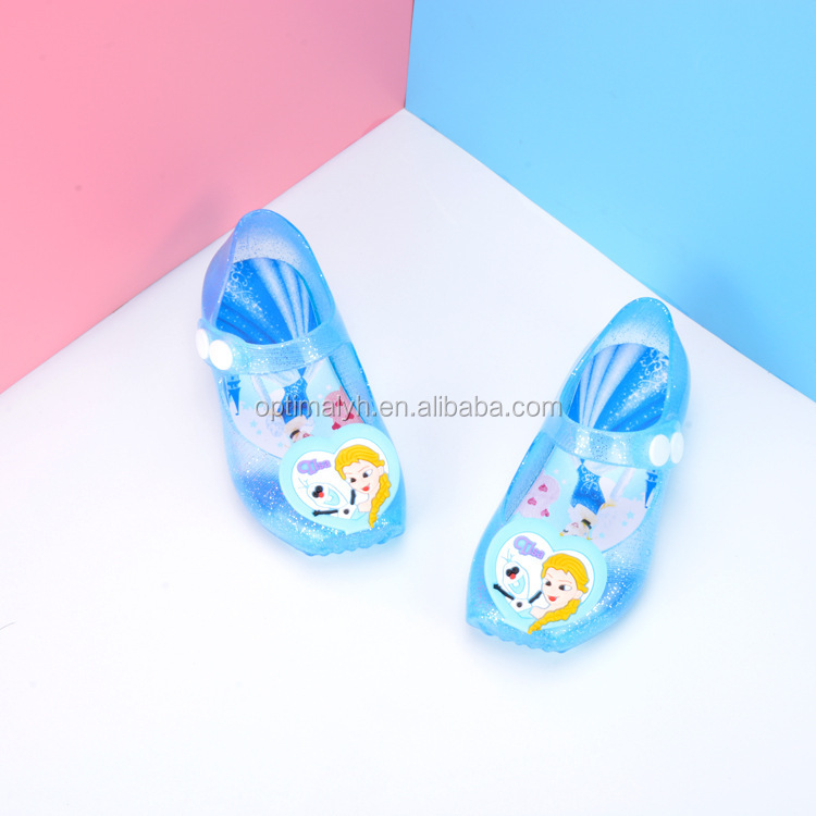Mini Melissa Shine Crystal princess Baby Shoes Cheap Soft Kids summer sandals