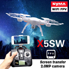 SYMA quadcopter 2.4G 4CH WIFI FPV RC drone x5sw HD 0.3 MP Camera syma x5sw