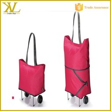 Two way travel wheeled handbags, waterproof foldable trolley shopping bags wholesale