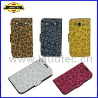 New arrival,Leather Case for Samsung Galaxy S3 i9300,Leopard Pattern design,Fast delivery----Laudtec