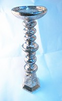 40cm high Hexagonal bottom Hollow Ultralight Chroming Glass candle holder glass