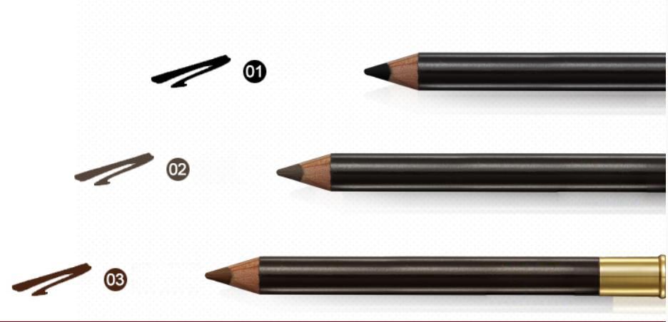 high quality eyebrow pencil makeup eyebrow with brush