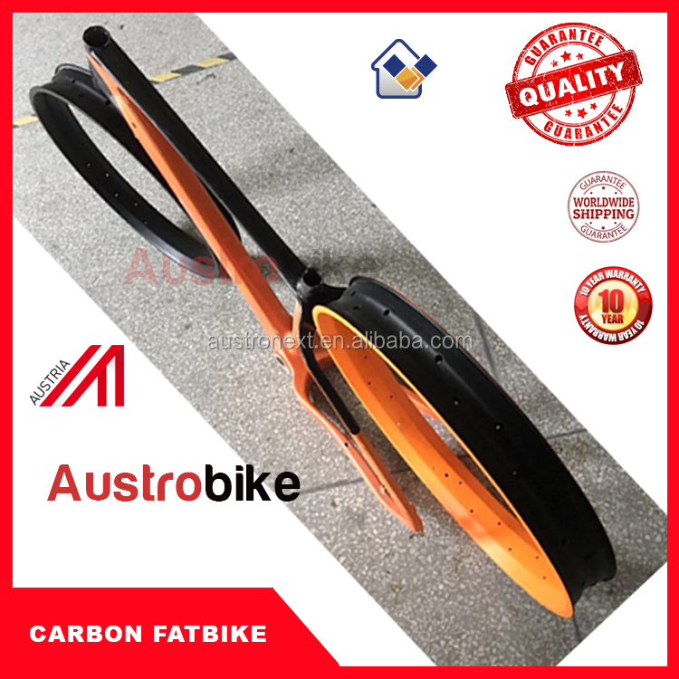 AUSTROBIKE 26er carbon fat bike frame with 190x10mm or 197x12mm rear thru axle
