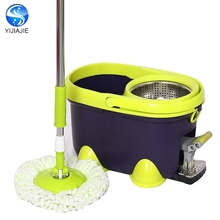 useful telescopic handle 360 rotating spin walkable mop