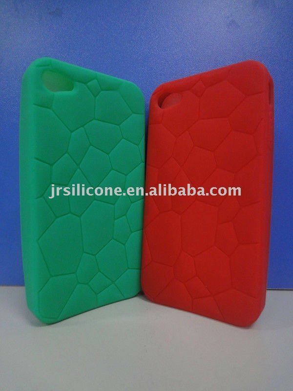 lovely turtle shell silicone phone case for iphone 4G