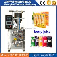 CE approved new condition packing plastic bag berry juice sachet /aluminum film syrup pouch filling packing machine
