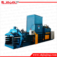 CE certified factory design JEWEL Corrugated Paper Discharge automatic hydraulic baler machine