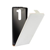 Black white Plain Pattern PU Leather Flip Cover case for LG Magna C90 H500 Open from to Bottom mobile phone cases CA203