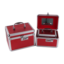 Simple customized beauty aluminum gift cosmetic makeup kit box