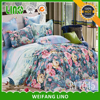 floral fitted sheet/jersey fitted sheet/king size bedding set