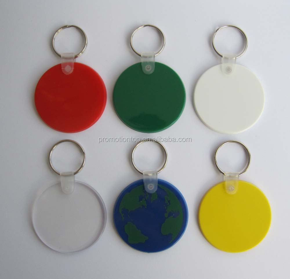 HEYU plastic soft pvc key tag key chain with ID Labels