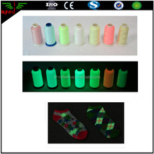 Dongguan glow in the dark reflective knitting yarn thread for embroidery for safety