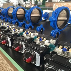 dn150 pneumatic wafer butterfly valve tyco