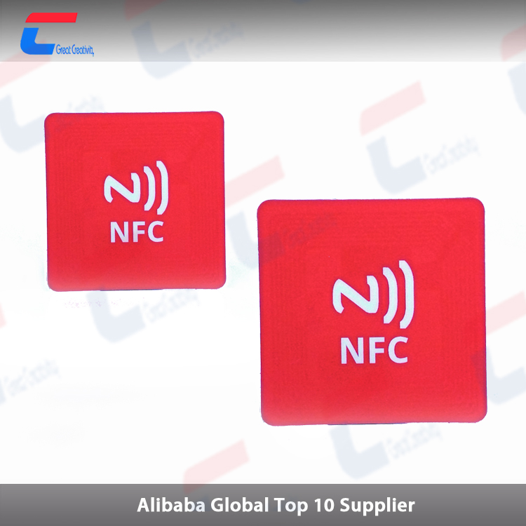 factory price 13.56Mhz Programmable NTAG 213 RFID NFC label sticker for cashless system