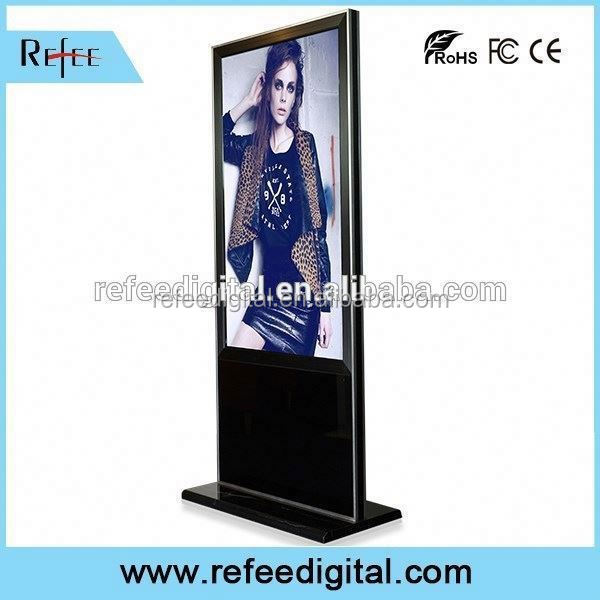 32/42/55/65inch ipad style/ stright corner floor standing wifi/3g security lcd monitor