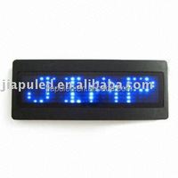 Scrolling LED message car badges emblems