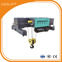 10 ton high quality electric wire rope Single Girder hoist for lifting people