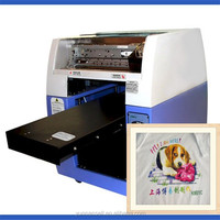 Most Popular T-shirt / Socks / Gloves Digital Flatbed Printing Machine