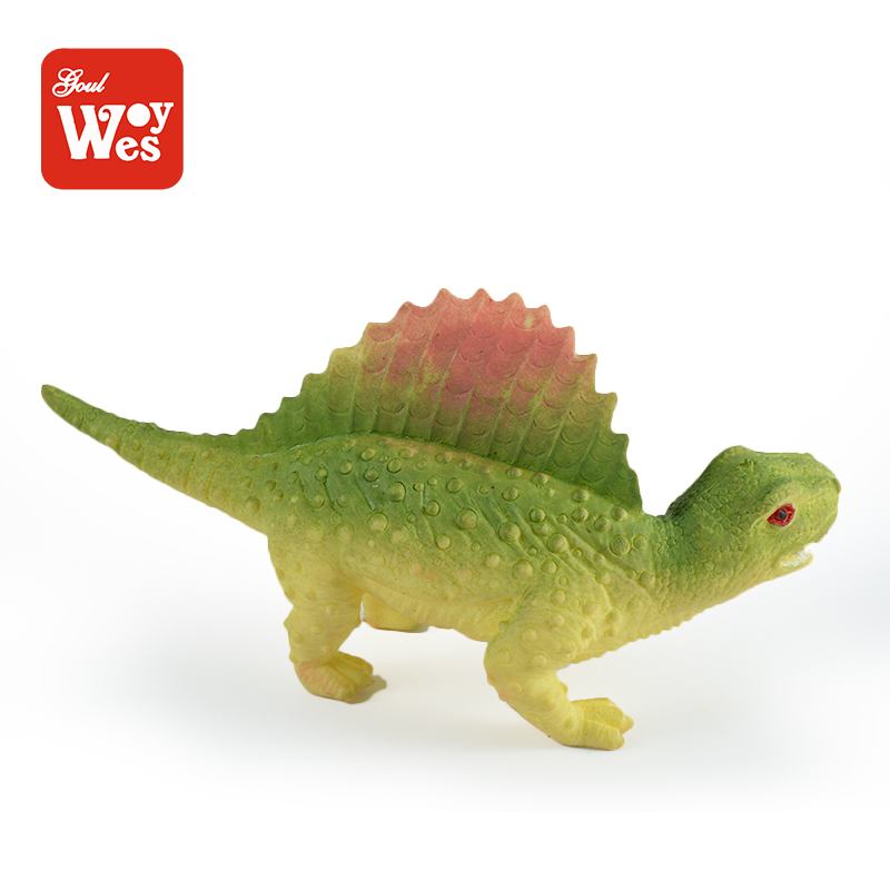 China product fun soft rubber dinosaur model anim toy for kids