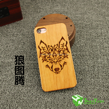 Wooden case laser carving cell phone case for Iphone 7,7 plus