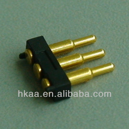 cnc machining precise spring loaded pogo pin SMT style pogo pin with gold plated
