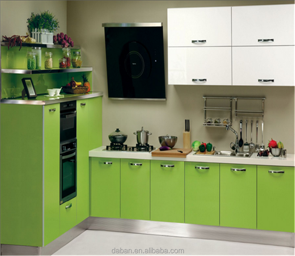 2015 hot sale white kitchen cabinet style modular kitchen for White cabinets for sale