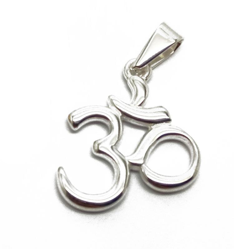 Olivia Meditation Buddhist Ohm Necklace Stainless Steel 925 Sterling