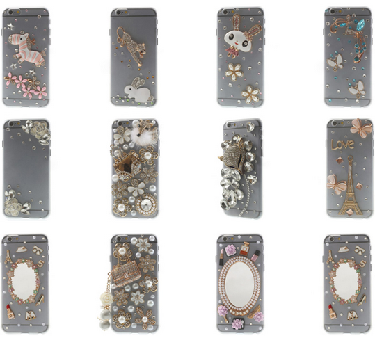 Fox & Handbag Rhinestone Hard Case for iPhone 6 4.7 inch