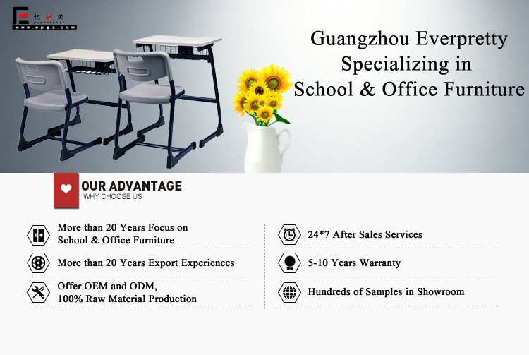 Guangzhou school canteen table and chair, modern french style plastic dining chair