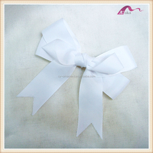 Korean Simple Baby White Ribbon Bow Hair Clips Alligator