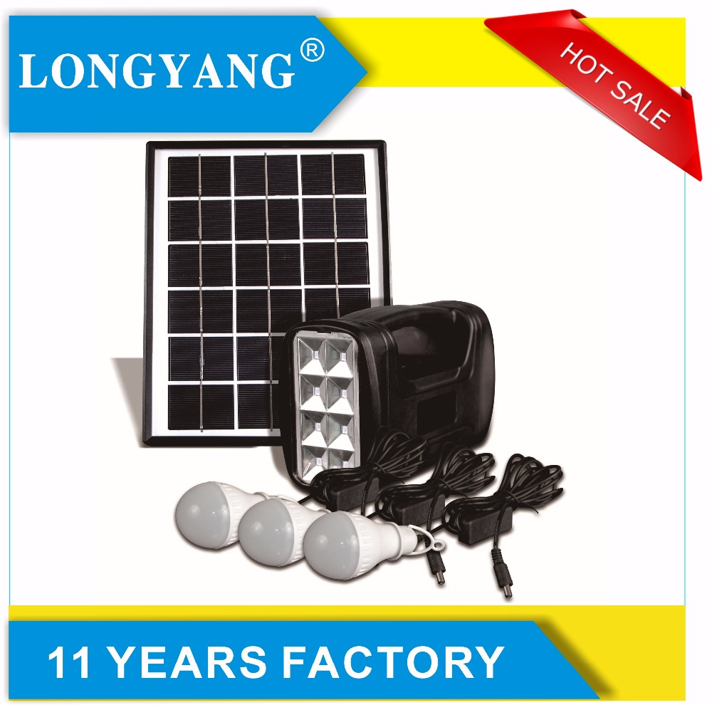 5W solar panel system for home use with solar led light