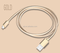 Nylon braided data sync charging micro USB cable double use