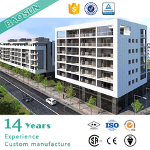 BAOSUN customer individual four floor light gauge steel structure prefabricated apartment for sale in UK