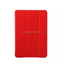For ipad mini 4 Leather Case with Built-in-Multi-Angle Stand