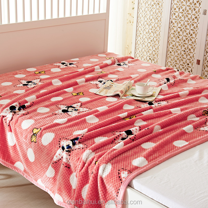 high quality super soft thick korean warm cozy quality fleece blanket with competitive price