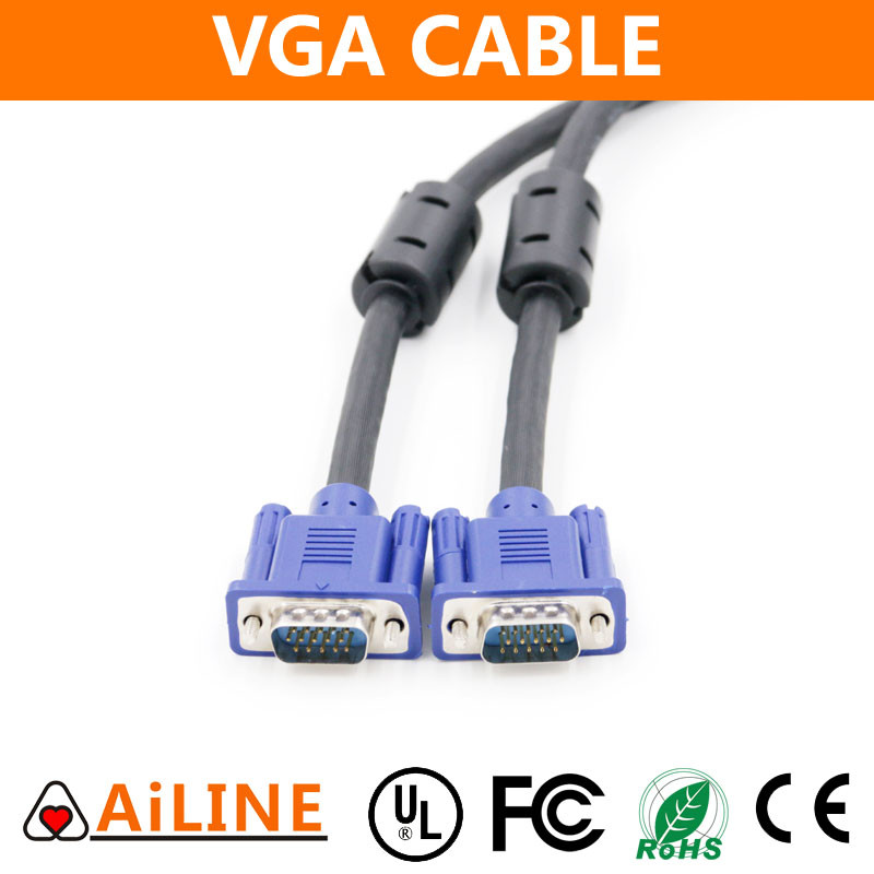 AiLINE Quick Delivery 3+6 Nickel Plated Male to Male VGA Cable 30m