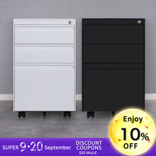 High quality 3 drawer mobile pedestal cabinet/ movable cabinet