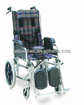 Health&medical reclining high back wheelchair for cerebral palsy children JL212BCG