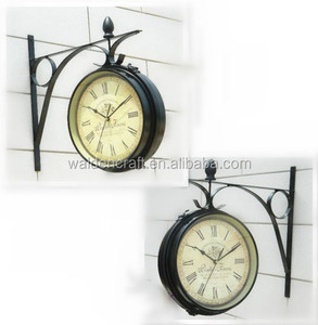 Double Faced Wall Clock Metal Wall Watch For Home Decora Quartz Mute Wall Clocks