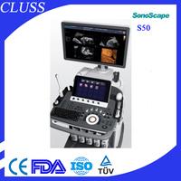 Advantage prices Sonoscape s50 cheapest 3d portable ultrasound machine color doppler in china