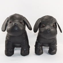 LOW MOQ cheap leather dog fashion OEM custom stuffed soft black PU dog sex toy
